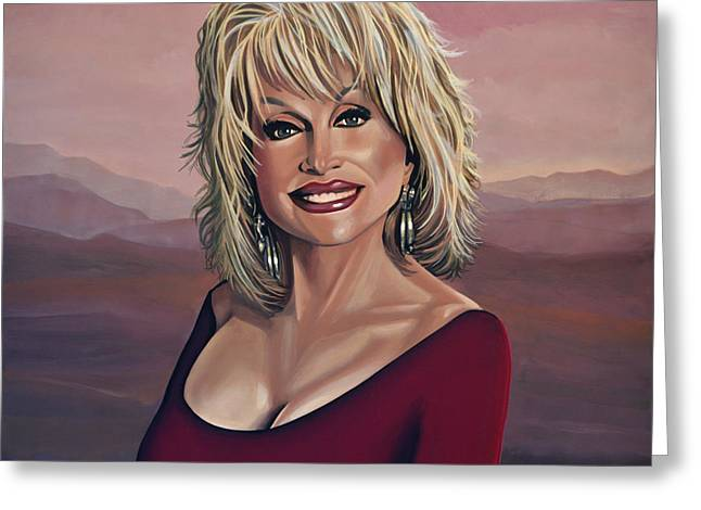 Author Greeting Cards - Dolly Parton 2 Greeting Card by Paul  Meijering