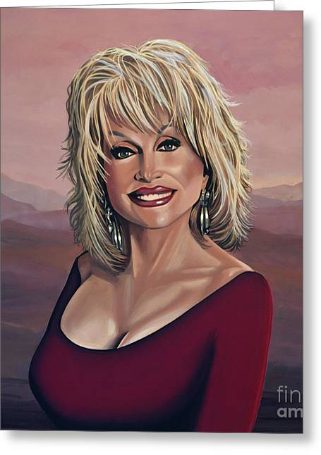 Dolly Parton 2 Greeting Card by Paul Meijering