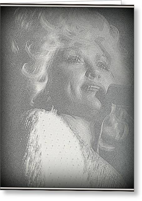 I Will Always Love You Greeting Cards - Dolly Parton Greeting Card by Kay Novy