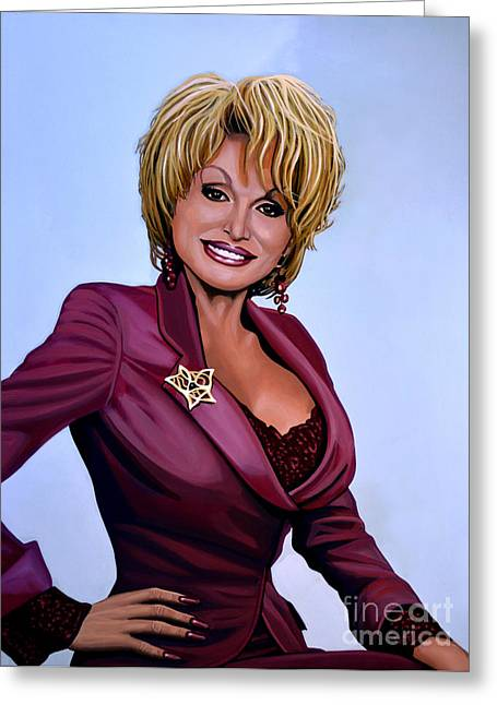 Author Greeting Cards - Dolly Parton Greeting Card by Paul  Meijering