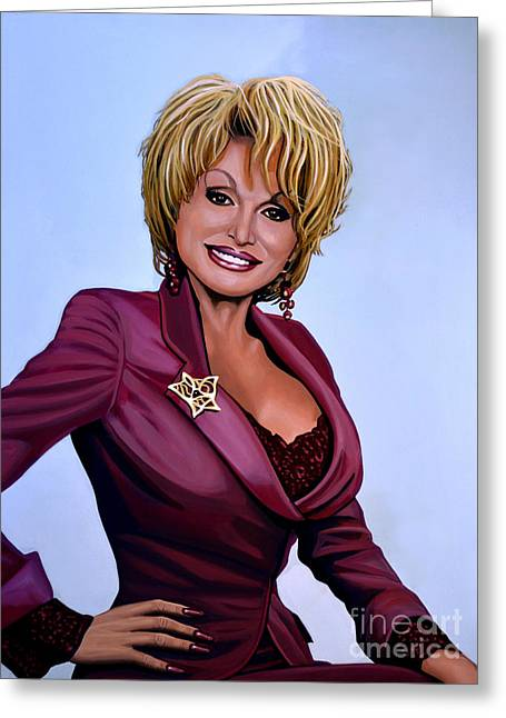 Dolly Parton Greeting Card by Paul Meijering