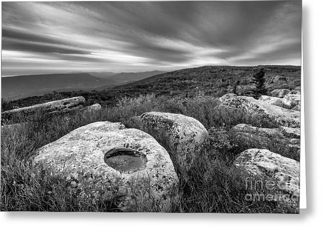 Dolly Sods Wilderness Greeting Cards - Dolly Sods Wilderness D30019870bw Greeting Card by Kevin Funk