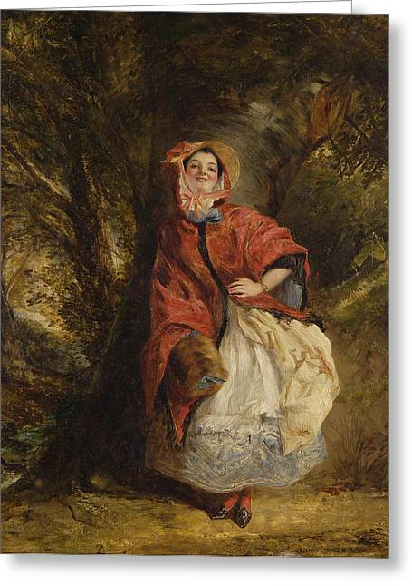 Frith Greeting Cards - Dolly Vardon Greeting Card by William Powell Frith