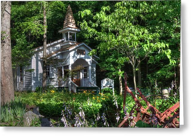 Recently Sold -  - Gatlinburg Tennessee Greeting Cards - Dollywood Church Greeting Card by Mark Bowmer