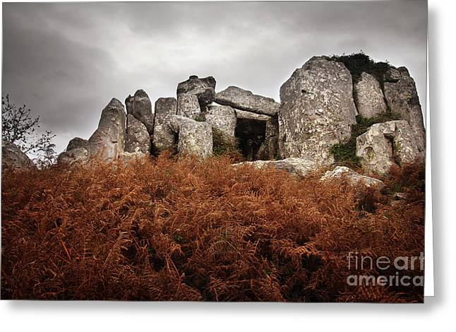 Dolmen Greeting Card by Carlos Caetano