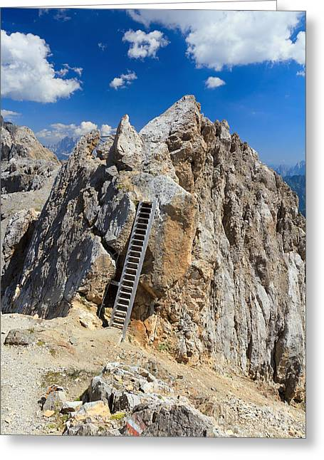 Beautiful Scenery Greeting Cards - Dolomites - Costabella peak Greeting Card by Antonio Scarpi