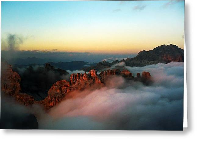 Inversion Greeting Cards - Dolomites cloud inversion  Greeting Card by James Rushforth