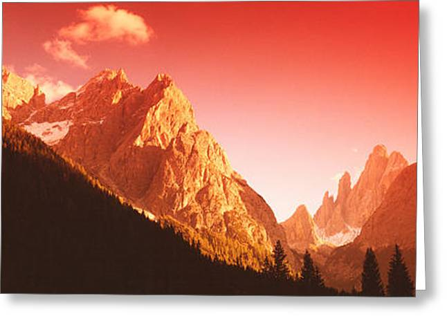 Snowy Day Greeting Cards - Dolomites, Italy Greeting Card by Panoramic Images