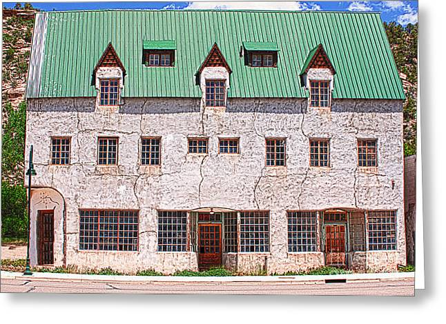 Ghostly Greeting Cards - Dolores Colorado Del Rio Hotel Greeting Card by Janice Rae Pariza