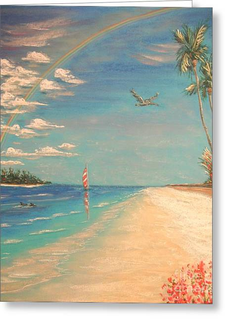 Seaside Pastels Greeting Cards - Dolphin Bay Greeting Card by The Beach  Dreamer