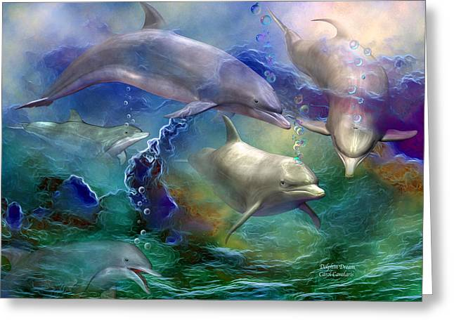 Dolphin Dream Greeting Card by Carol Cavalaris