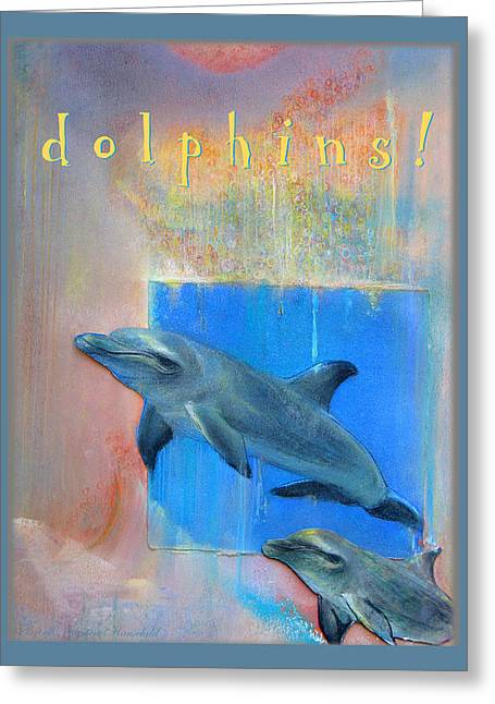 Kids Room Pastels Greeting Cards - Dolphins Greeting Card by Brooks Garten Hauschild