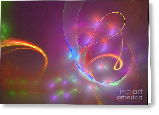 Souls Greeting Cards - Dolphins dream Greeting Card by Sipo Liimatainen