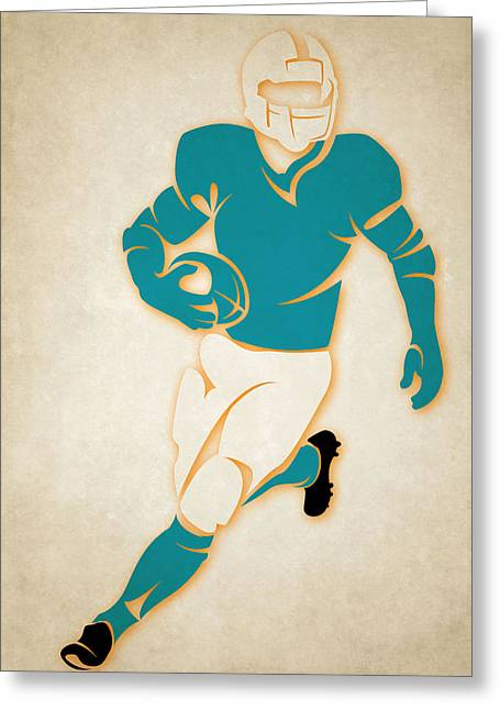 Miami Dolphins Greeting Cards - Dolphins Shadow Player Greeting Card by Joe Hamilton