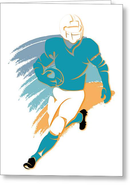Miami Dolphins Greeting Cards - Dolphins Shadow Player2 Greeting Card by Joe Hamilton