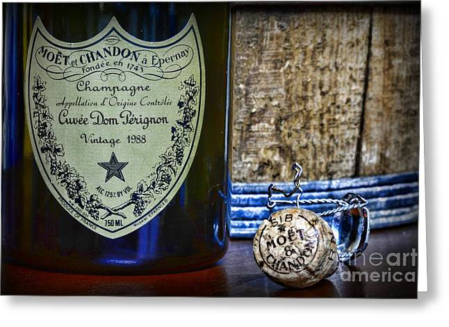 Cellar Greeting Cards - Dom Perignon It Was a Good Year Greeting Card by Paul Ward