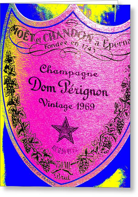 Red Wine Greeting Cards - Dom Perignon Abstract Greeting Card by Jon Neidert