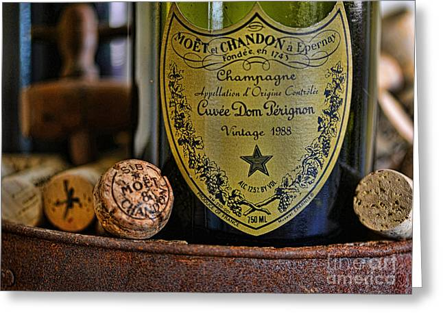 Refined Greeting Cards - Dom Perignon  Greeting Card by Paul Ward