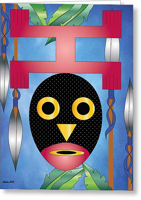 Beat It Digital Art Greeting Cards - Domaray Bird of Death Greeting Card by Charles Smith