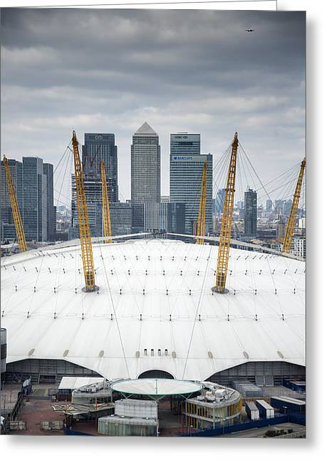 Transport For London Greeting Cards - Dome and Wharf Greeting Card by Matthew Gibson
