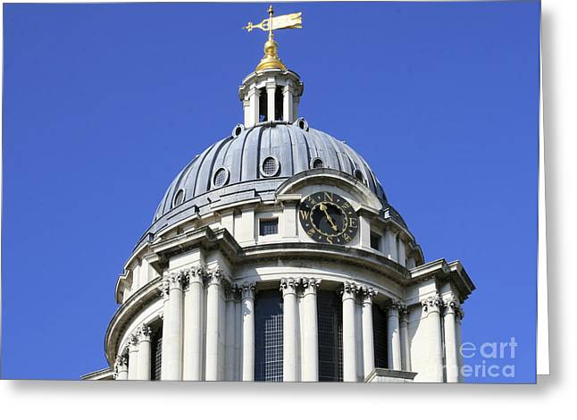 Royal Naval College Greeting Cards - Dome at the Royal Naval College in Greenwich London Greeting Card by Philip Pound