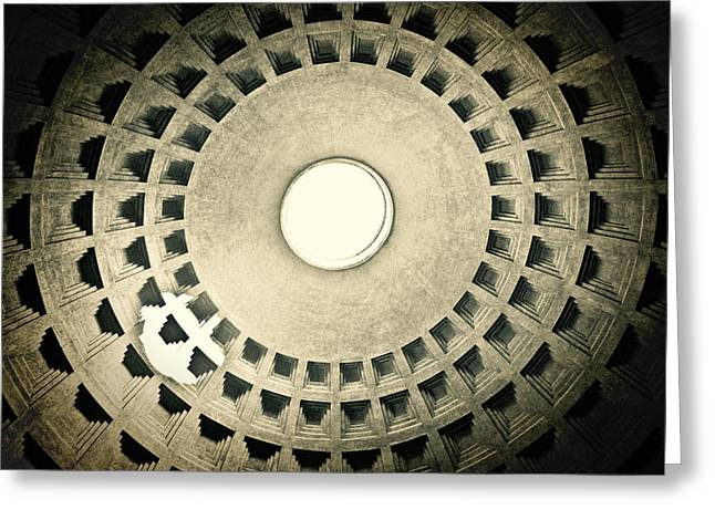 Basillica Greeting Cards - Dome Light Greeting Card by Susan  Schmitz