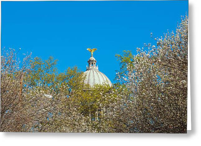 Capitol Greeting Cards - Dome Of A Government Building, Old Greeting Card by Panoramic Images
