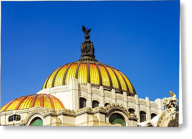 Mexico City Greeting Cards - Dome of Palacio de las Bellas Artes Greeting Card by Jess Kraft