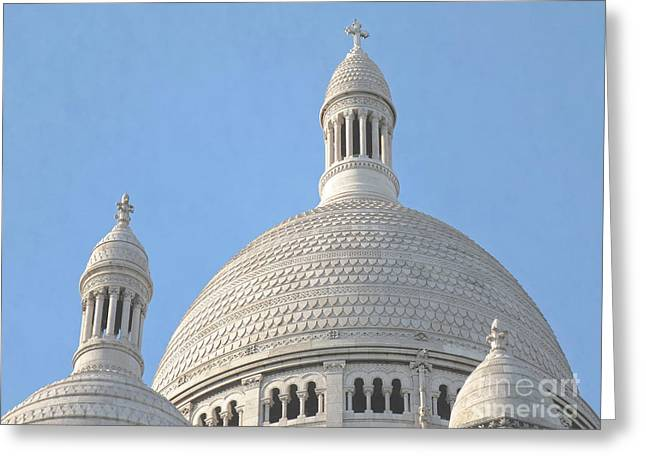 Dome of Sacre-Coeur Greeting Card by Ann Horn