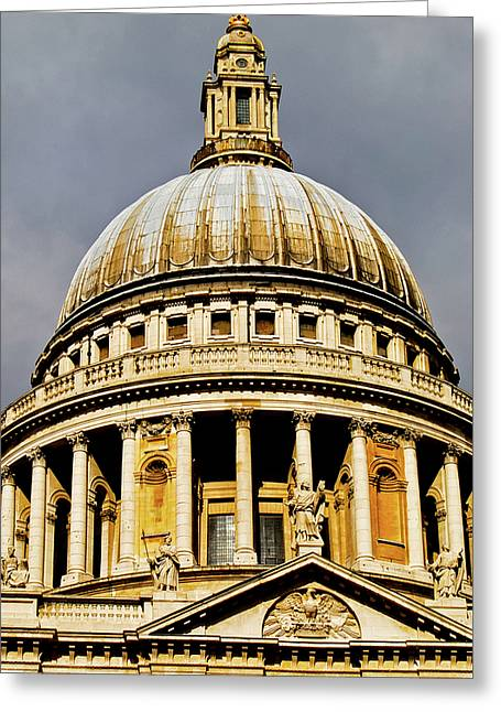 Saint Christopher Photographs Greeting Cards - Dome of St. Pauls Cathedral Greeting Card by Christi Kraft