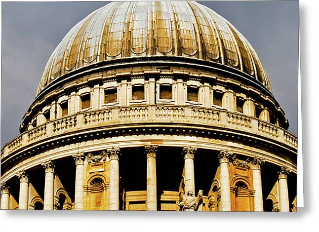 Dome of St. Paul's Cathedral Greeting Card by Christi Kraft