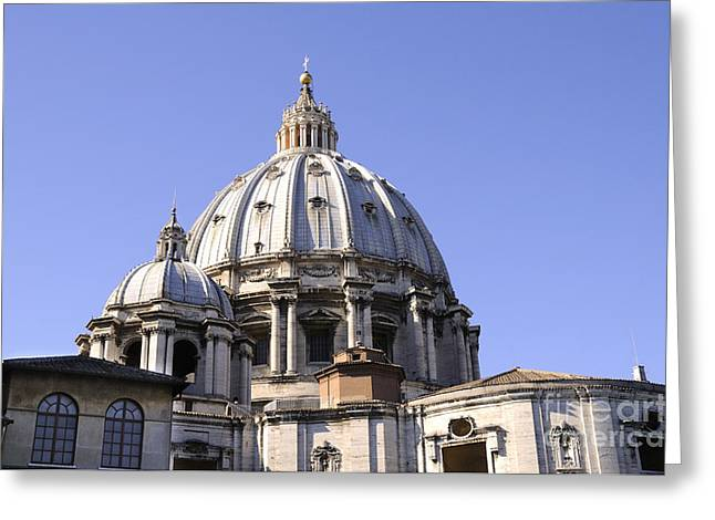 Dome Of St Peters Rome Greeting Card by Brenda Kean