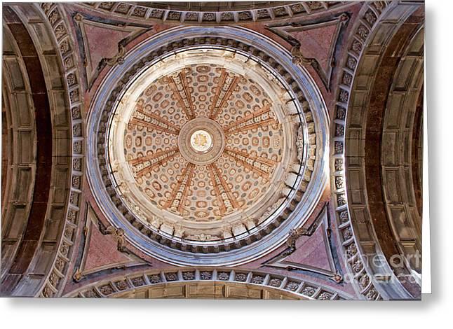 Mafra Greeting Cards - Dome of the Baroque Basilica of Mafra Greeting Card by Jose Elias - Sofia Pereira
