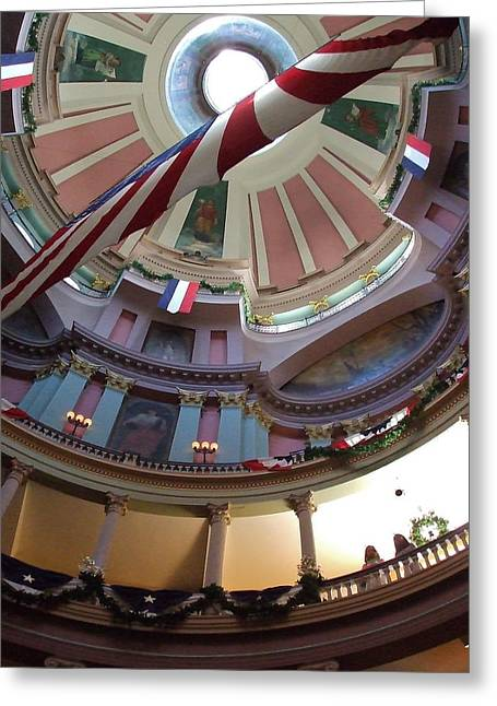 Dred Scott Greeting Cards - Dome of the Old Courthouse Greeting Card by Susan Wyman