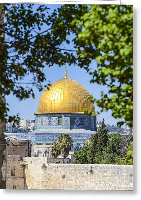 Amirp Greeting Cards - Dome of the Rock Jerusalem 5 Greeting Card by Amir Paz