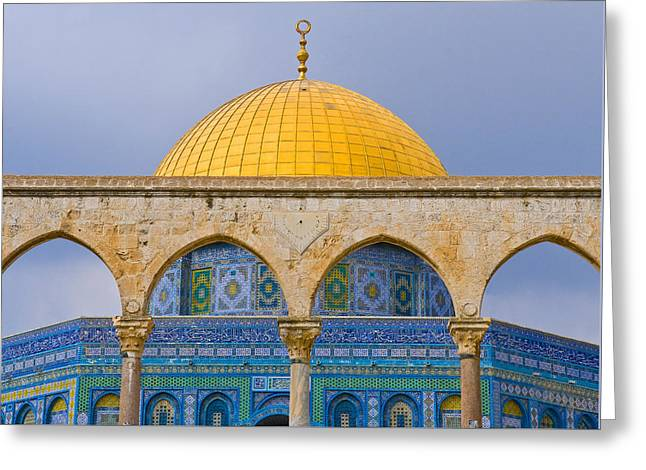 Dome Of The Rock Greeting Card by Kobby Dagan