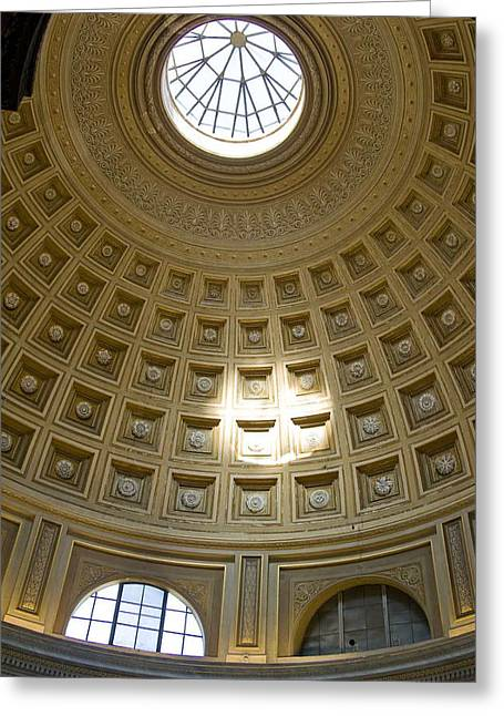 Cliff C Morris Jr Greeting Cards - Dome of the Vatican Greeting Card by Cliff C Morris Jr