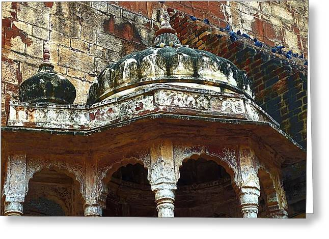 Royal Art Greeting Cards - Domed Gazebo Arches Mehrangarh Fort Rajasthan India Greeting Card by Sue Jacobi