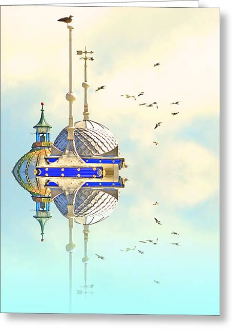 Seaside Digital Greeting Cards - Domes of Eastbourne Greeting Card by Sharon Lisa Clarke