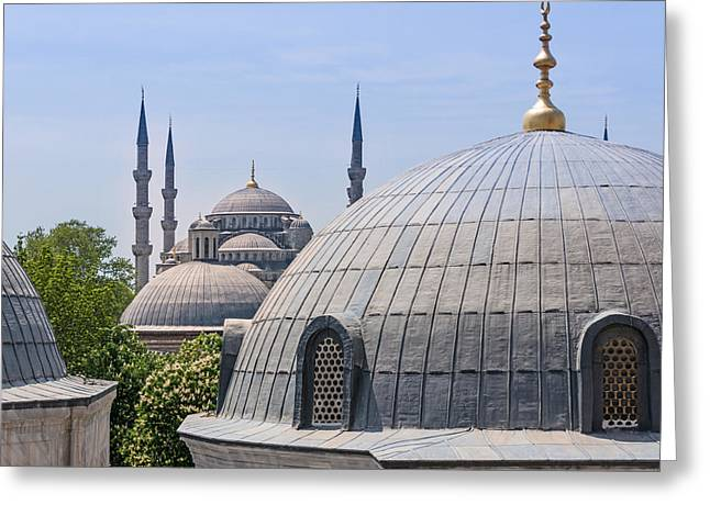 Istanbul Greeting Cards - Domes of Istanbul Greeting Card by Lutz Baar