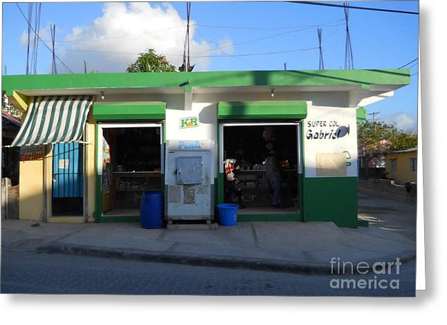 Bayahibe Greeting Cards - Dominican Grocery Greeting Card by Robert Aiken