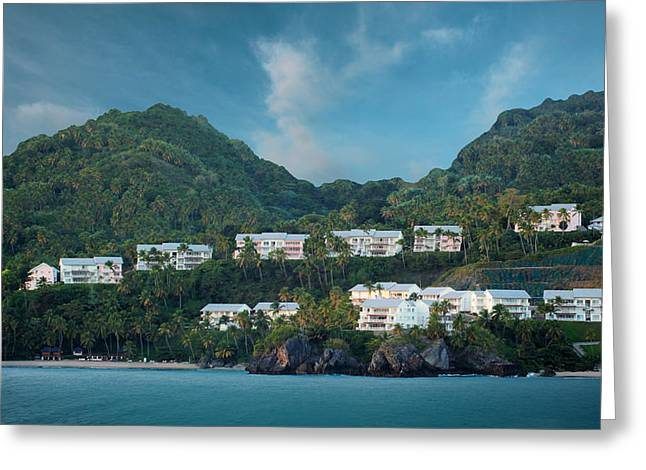 Royal Caribbean Greeting Cards - Dominican Republic Coastline Greeting Card by Shelley Neff
