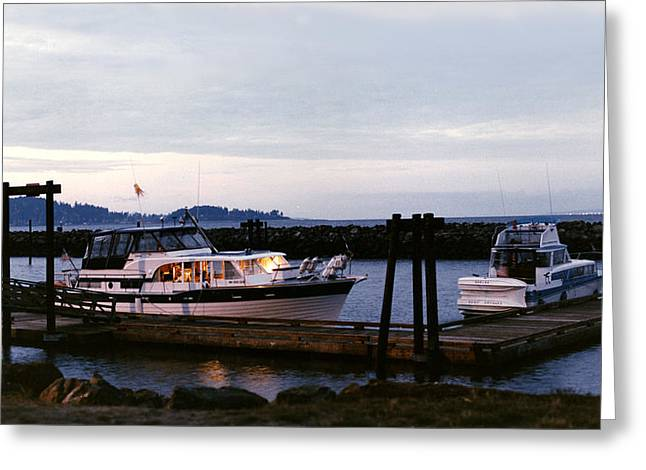 Puget Sound Framed Prints Greeting Cards - Domino 43 foot Tollycraft at Blake Island Greeting Card by Jack Pumphrey