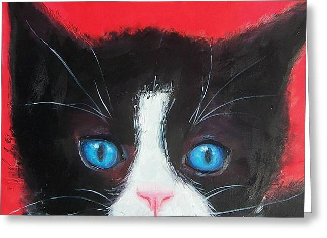 Animals Greeting Cards - Domino  Greeting Card by Jan Matson