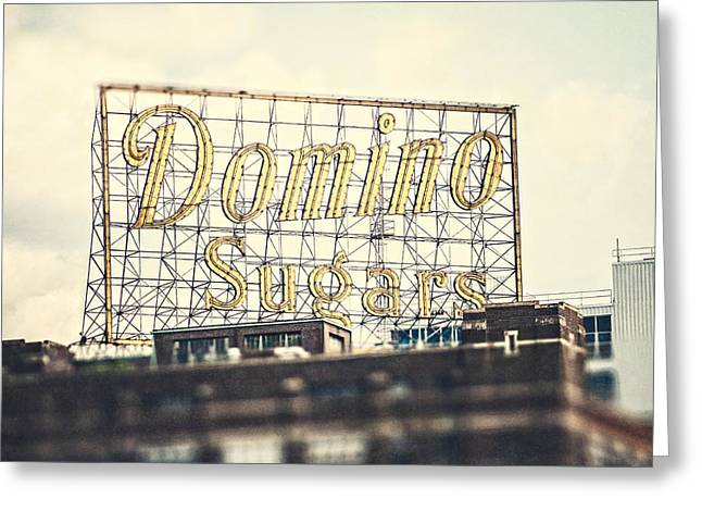 Lisa Russo Greeting Cards - Domino Sugar Greeting Card by Lisa Russo