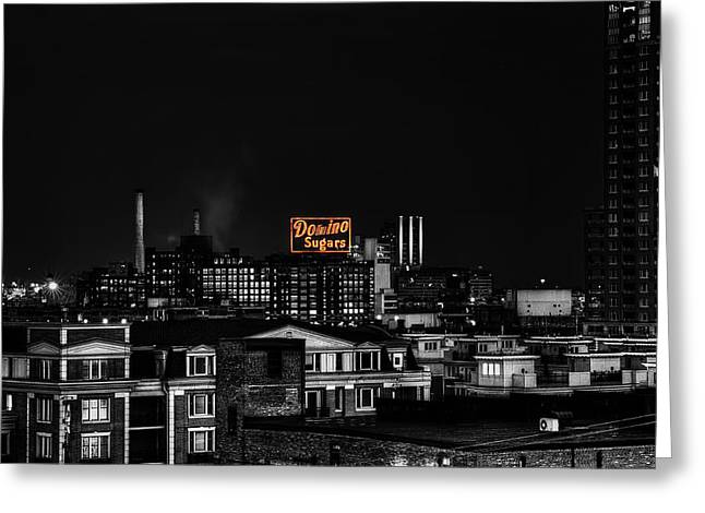 Md Greeting Cards - Domino Sugar Greeting Card by Rob Dietrich