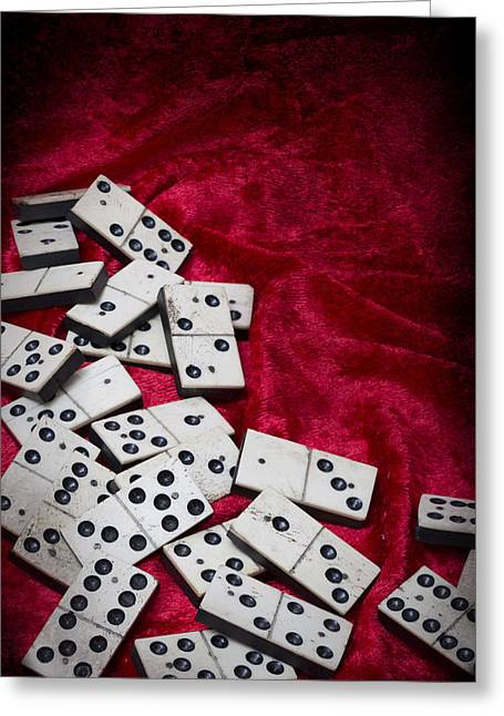Dominoes Greeting Card by Amanda And Christopher Elwell
