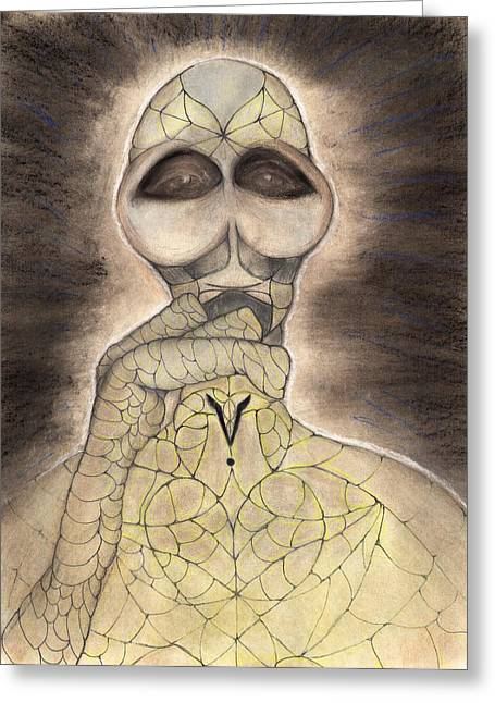 Visionary Artist Greeting Cards - Domk Greeting Card by Roger Hanson