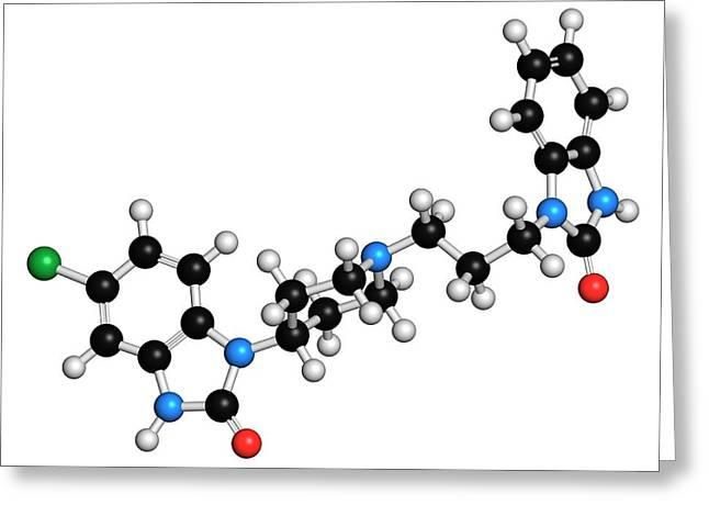 Domperidone Anti-nausea Drug Molecule Greeting Card by Molekuul