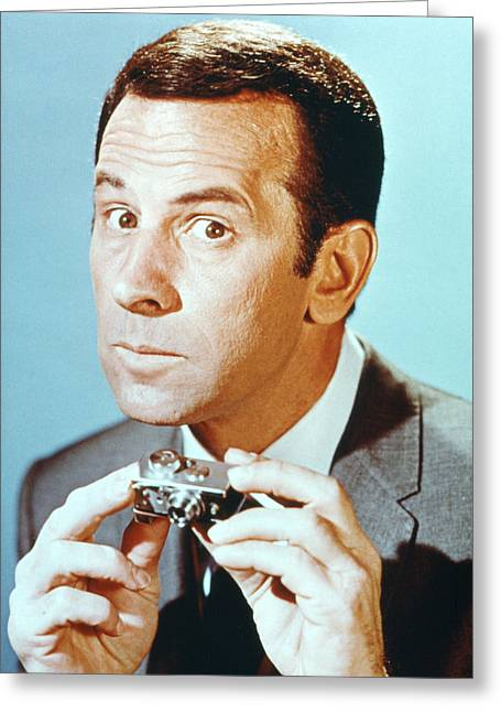 Adam Greeting Cards - Don Adams Greeting Card by Silver Screen